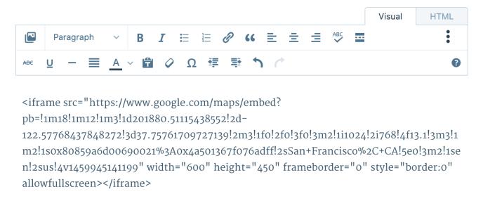 google-maps-wordpress-iframe