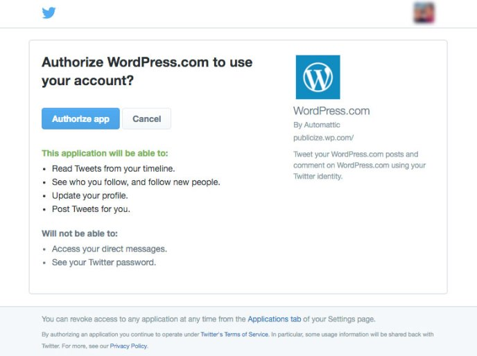 Twitter — Support — WordPress com