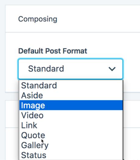default postformat