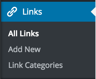 Links options with All Links highlighted