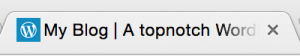 Site icon on a desktop browser tab