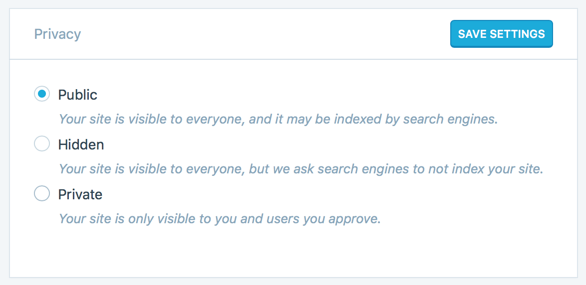 Tumblr privacy settings