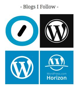 Blogs I Follow widget display