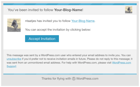 Inviting contributors followers and viewers support wordpress after sending the invitation the person that you invited will receive an invitation email stopboris Choice Image
