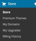 Store menu