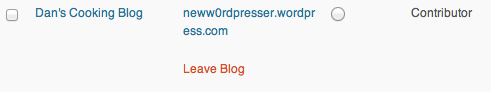 Leave Blog