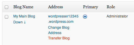 Transferring a Site to Another WordPress com Account