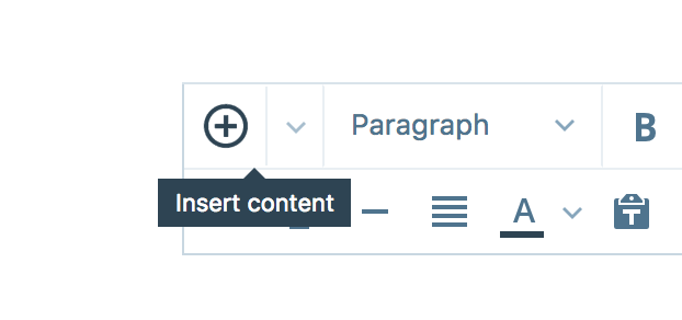 Add Content button