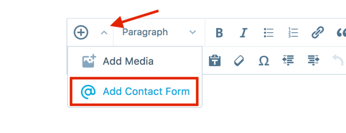Add Contact Form button