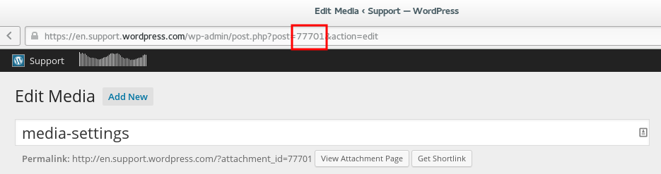 you can follow almost the same steps for getting a post id instead of going to your media library though go to your posts screen and then click on the