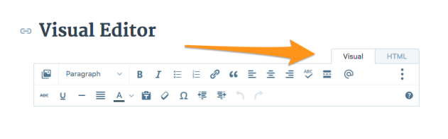 Image Of Visual Editor Tab