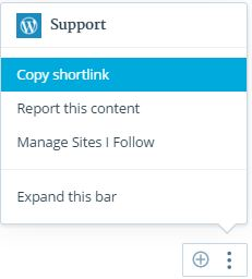 shortlink-actionbar