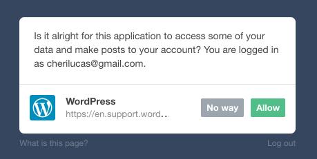 Autoriser l'accès à Tumblr
