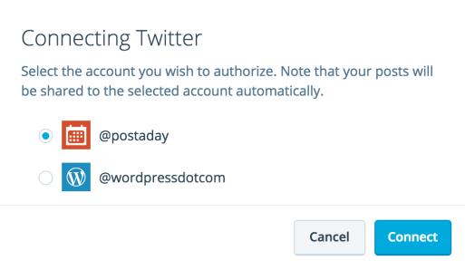 Autoriser le compte Twitter