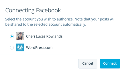 Authorizing Facebook accounts - pages