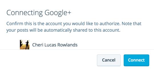 Google+ verbinding bevestigen