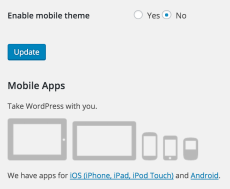 disable mobile theme