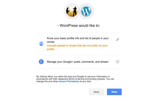 Informations pour Google