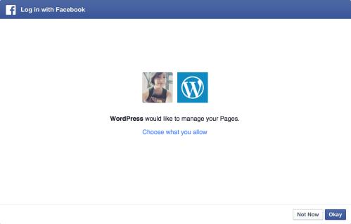 Berechtigung für Facebook zur Verwaltung von Seiten