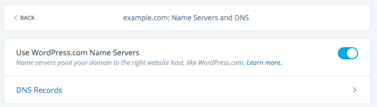 wordpress.com dns