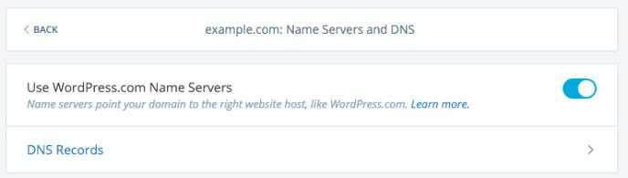 wordpress.com dns