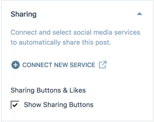 Disable Sharing Buttons in Post