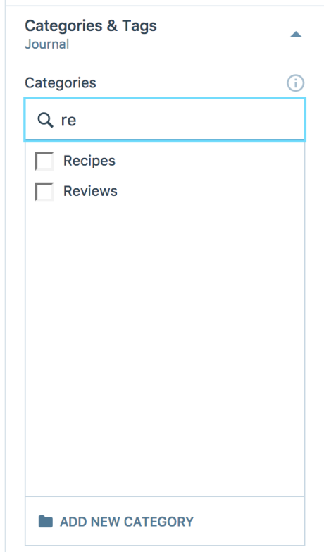 If You Have More Categories Than What Appears In Your Post Editor Can Begin Typing A Specific Category Name Into The Search Field And Corresponding