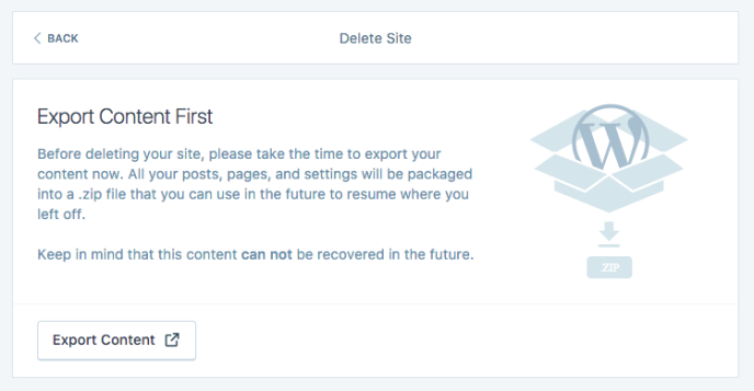 image of export content button