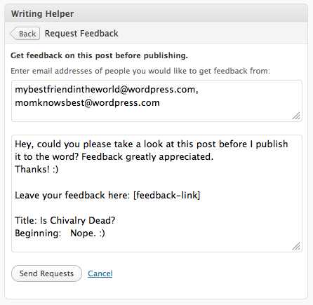 Request feedback support wordpress request feedback pronofoot35fo Choice Image