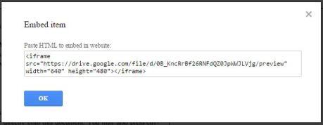 Google Drive embed code