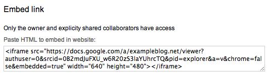 Google Docs — Support — WordPress com