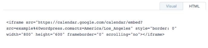 iframe-google-calendar