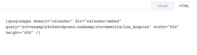 shortcode-google-calendar