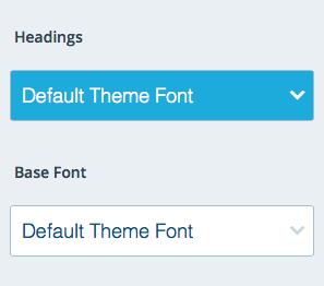 Default Theme Font