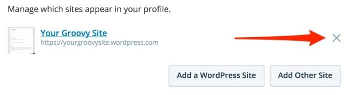 Delete Profile Link