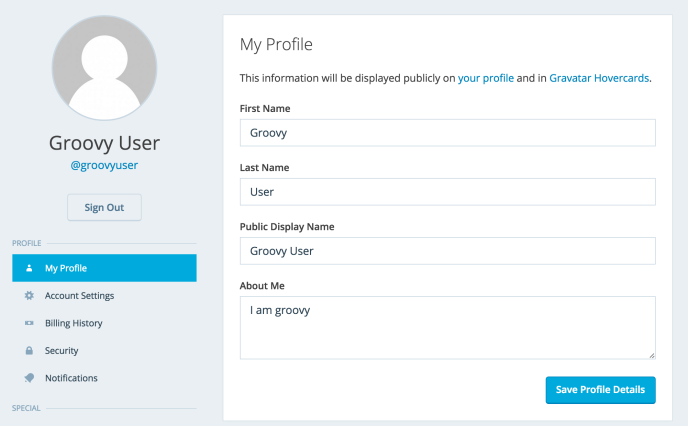 manage my profile support wordpress com