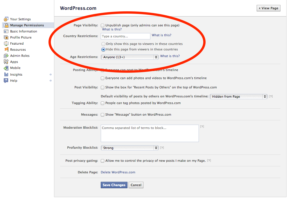 Facebook Integration � Support � WordPress.com