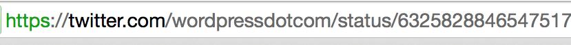 tweet URL in browser