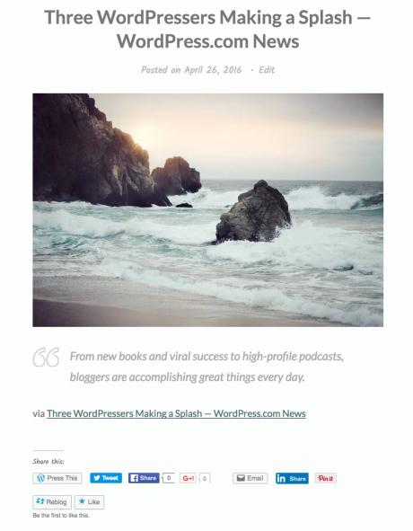 Come fare un reblog