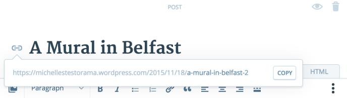 new post screen - edit URL