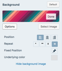 background edit options