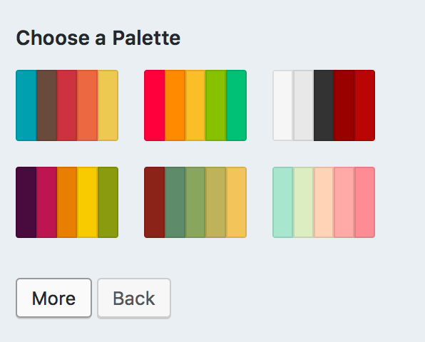 S Color Palette