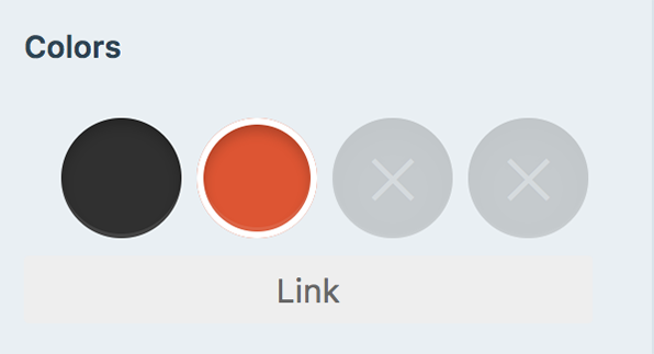 color pallets for links