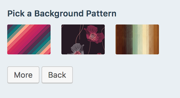 pick a background pattern