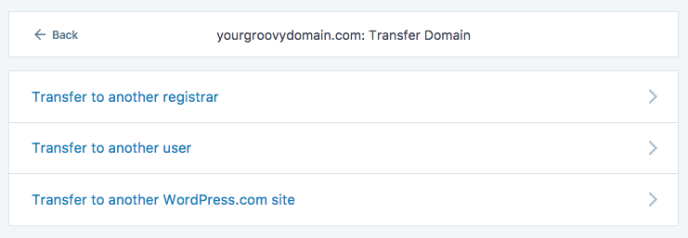 Select Transfer Domain And You Will See Options To Transfer The Domain To Another Registrar User Or Site