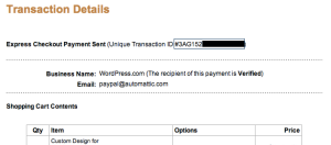 Paypal - Transaction Details