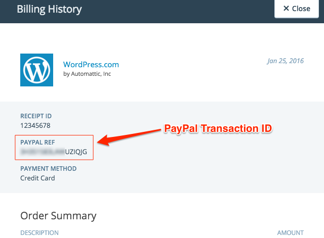 PayPal Transaction ID