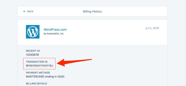 Billing History — Support — WordPress com