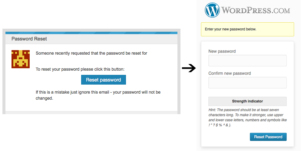 password reset new password \u2014 support \u2014 wordpress comaccount recovery password reset new password