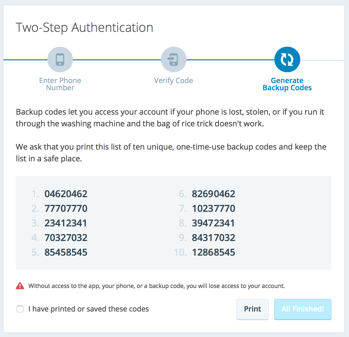 Two Step Authentication — Support — WordPress com